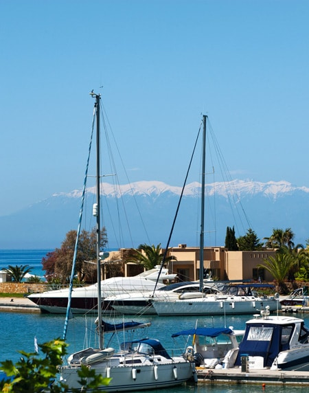 sani resort marina boats