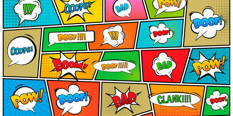 speech bubbles in a comic format