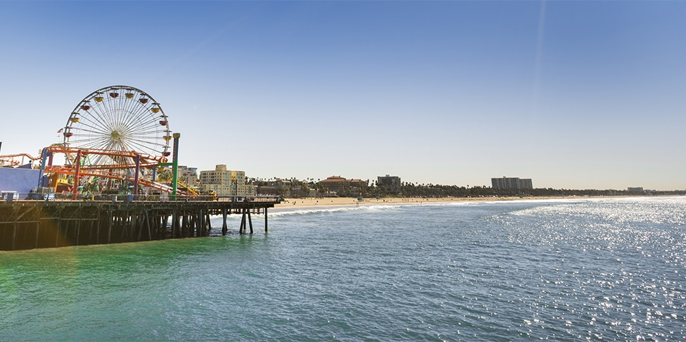 santa monica pier beach california