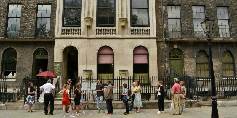 queues outside Sir John Soane's house
