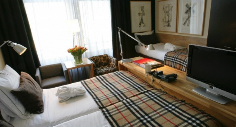 A family room at Hotel Vondel, Amsterdam