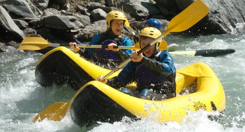 Short-haul adventure holidays, white water rafting