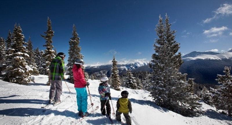 a family ski at winter park colorado