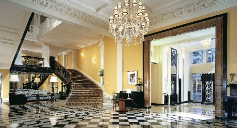 grand staircase at claridges hotel london