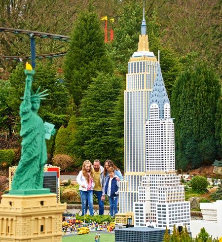 Family at Miniland USA Legoland Windsor