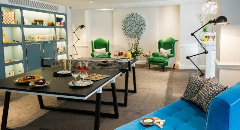 games room in the ampersand hotel london
