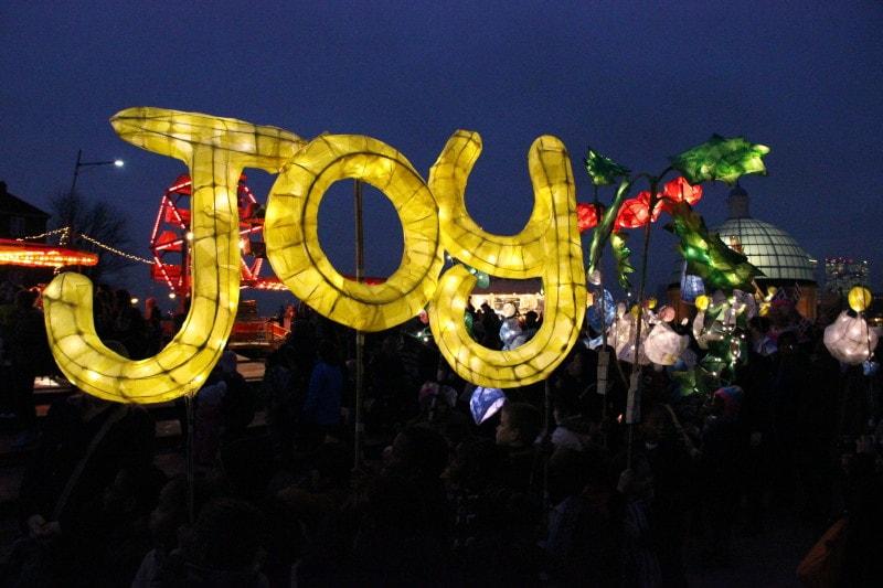 Joy lantern in greenwich market lantern parade
