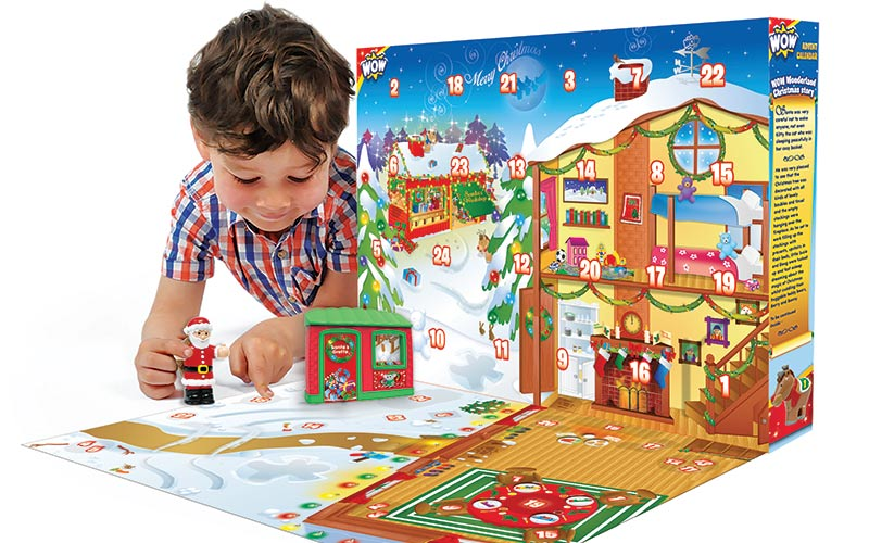 WOW-Toys-boy playing with christmas calendar - win the competition