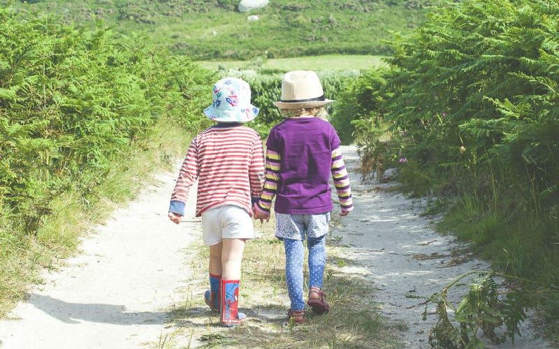 two-children-walking
