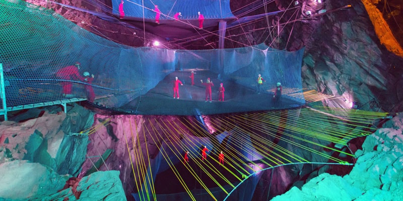 Bounce, Cavern trampolining in Wales