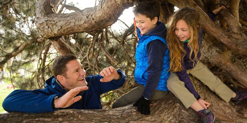 steve-backshall-with-kids-in-a-tree