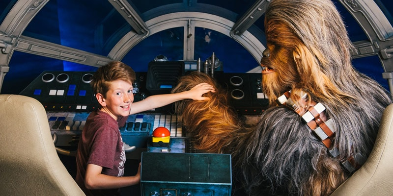 Star-Wars-at-Madame-Tussauds-Millennium-Falcon-with-Chewbacca