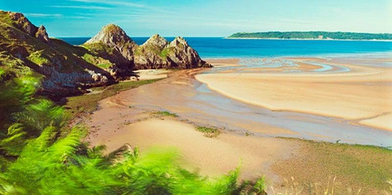 three-cliffs-bay-gower-wales-beach