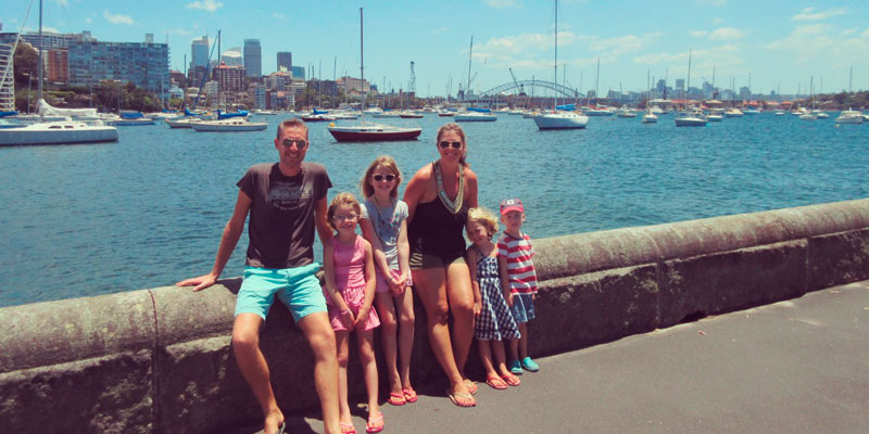 Prince-family-Sydney-Harbour-Bridge-home-swap