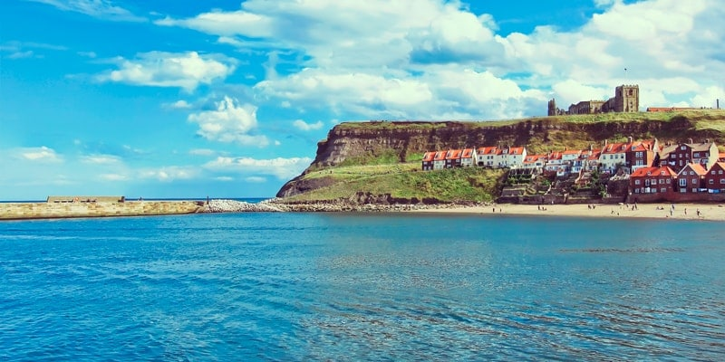 Whitby Abbey and beach