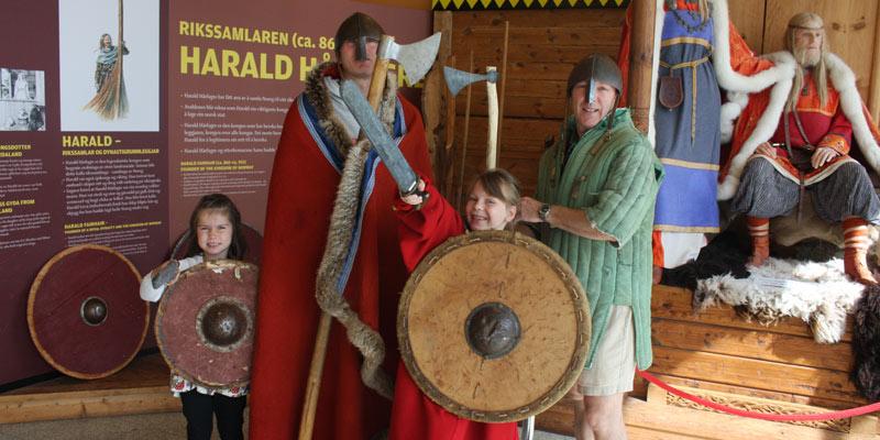family-dressing-up-as-vikings-norway