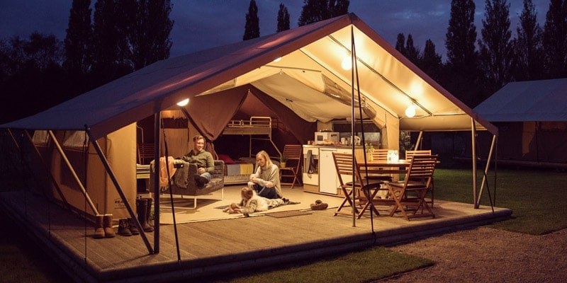 Ready-Camp-tent-at-night