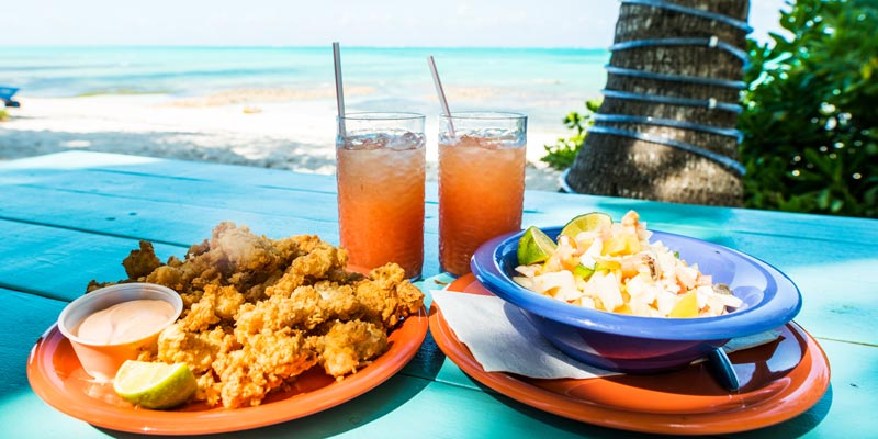 conch-fritters-and-salads-bahamas