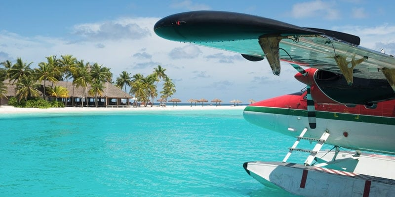 sea-plane-on-the-water-in-caribbean