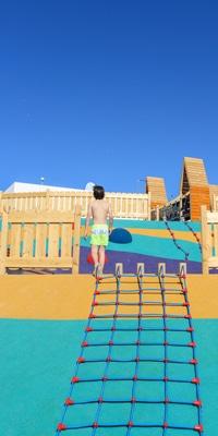little-boy-on-climbing-frame-outside-at-hard-rock-hotel-tenerife