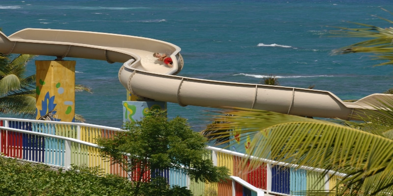 Waterslide at Coconut Bay Beach Resort & Spa, St Lucia