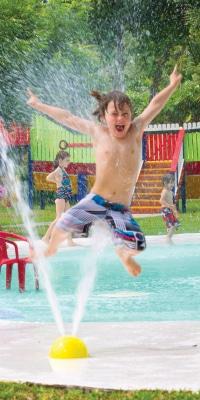Boy jumping at Cocoland