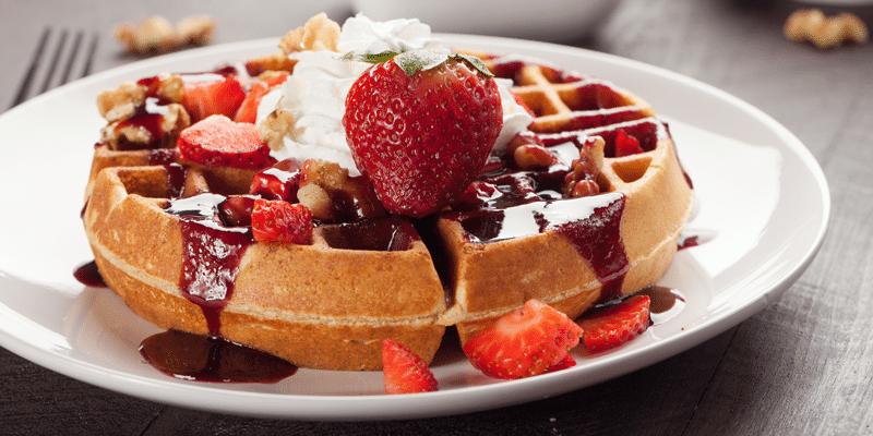 Waffles-cream