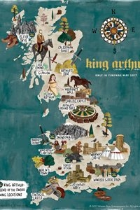 Map of Britain with Arthurian legend locations marked