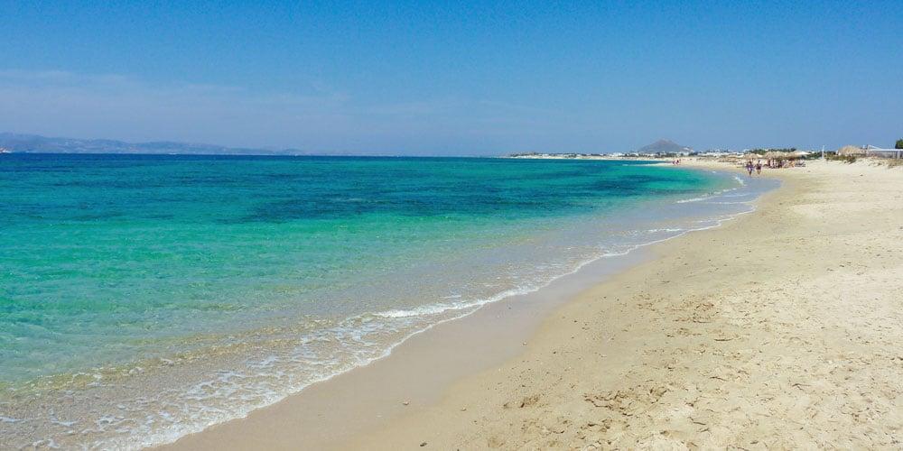 Best family friendly beaches in Greece Naxos