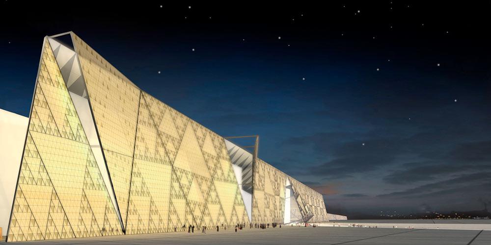 Grand Egyptian museum rendering