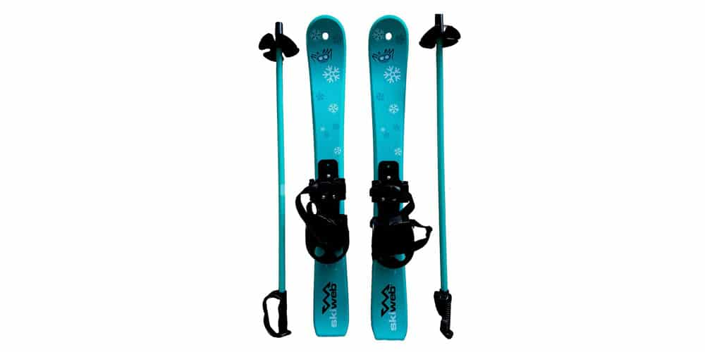 Kids'-first-skis-and-poles