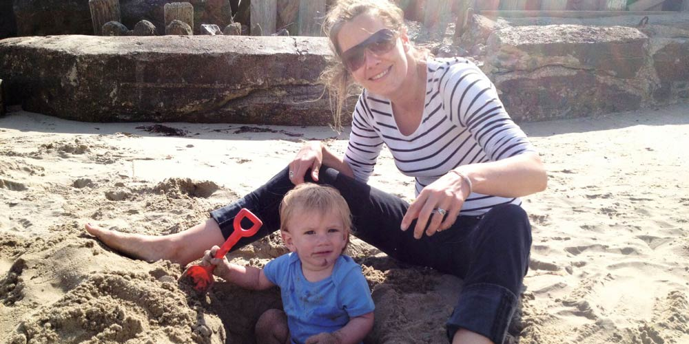 mum-and-son-on-beach-isle-of-wight
