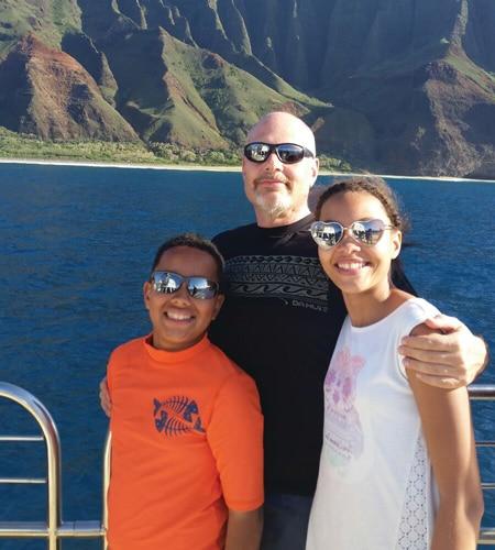 Sophia and family - island of Oahu in Hawaii