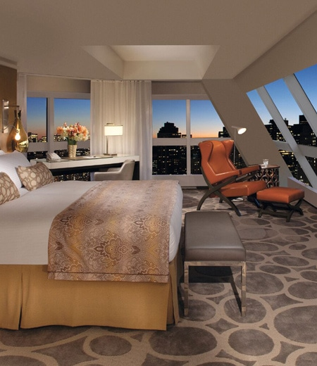Hilton hotel bedroom with city view 72 hours in manhattan