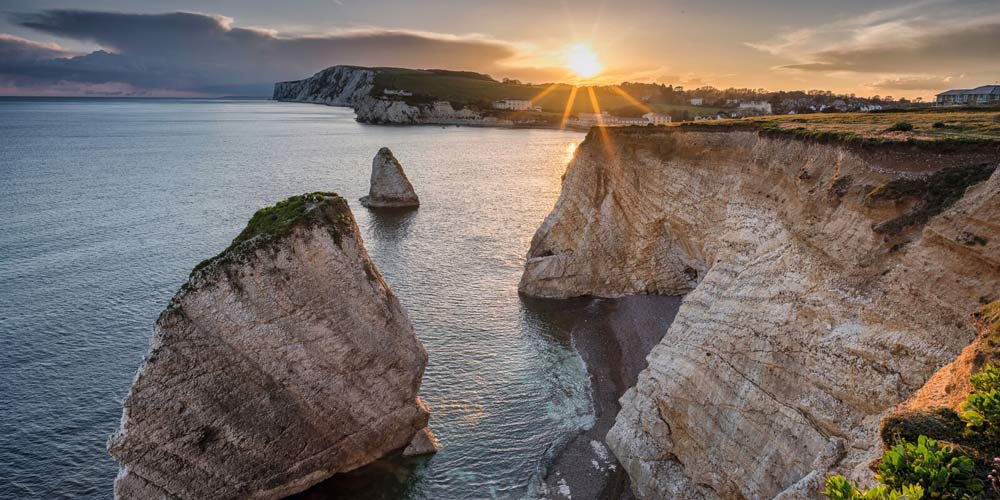 cliff sunset isle of wight