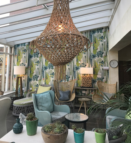 The relaxing Greenhouse Lounge