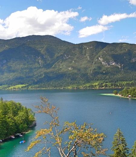 Countryside and lake Slovenia