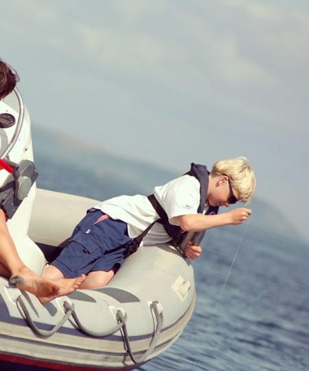 Boy fishing RYA training courses
