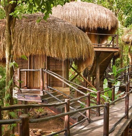 Rainforest spa huts Sugar Beach