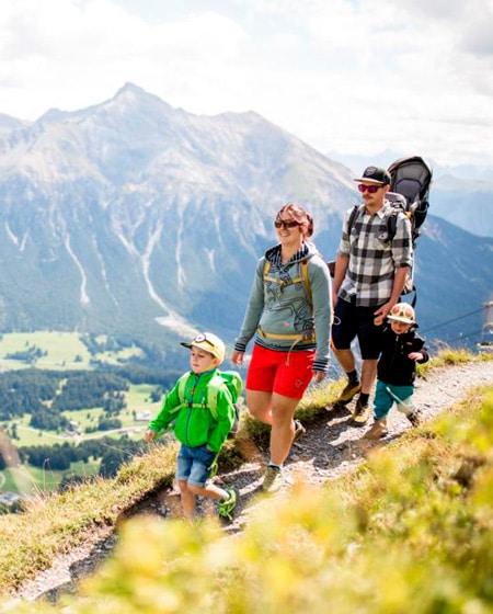 Powder Byrne family hiking