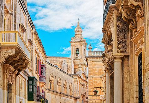 Tower of Palazzo Santa Sofia in Mdina, Malta