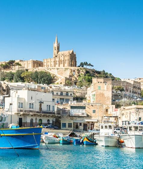 Port of Mgarr on island of Gozo