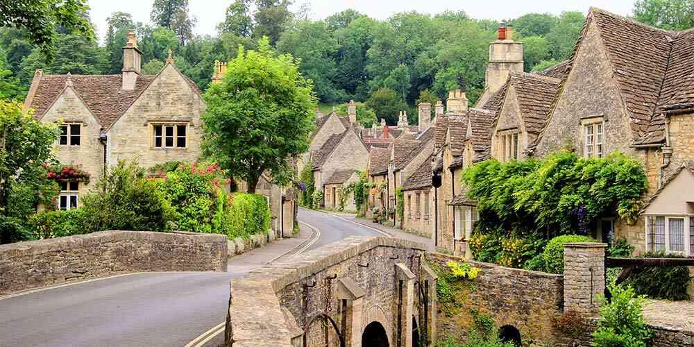 fairy tale European destinations Castle Combe the Cotswolds England