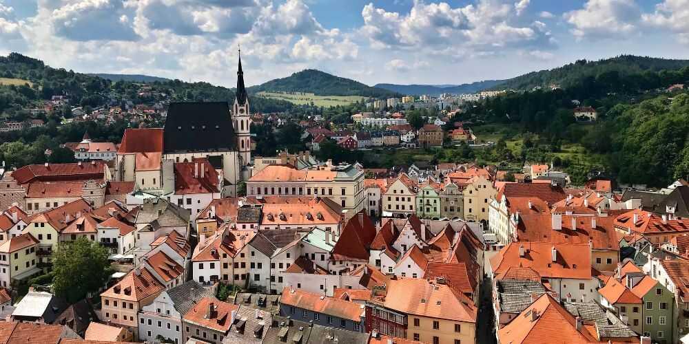 fairy tale European destinations Cesky Krumlov Czech Republic