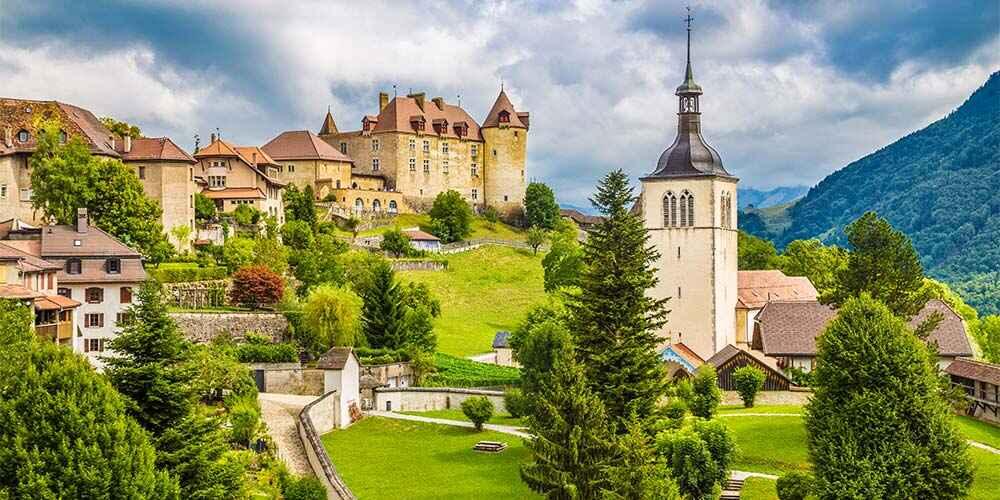 fairy tale European destinations Gruyeres Switzerland