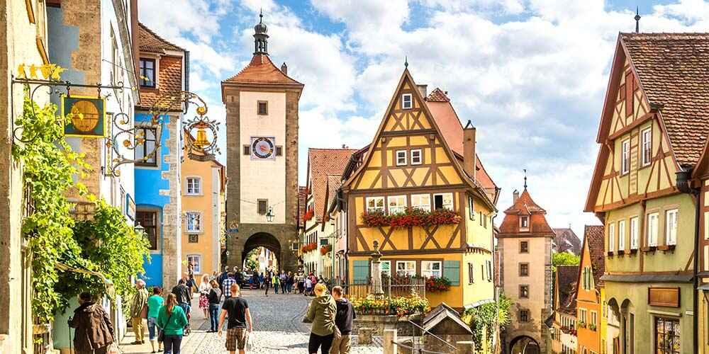 fairy tale European destinations Rothenburg Germany