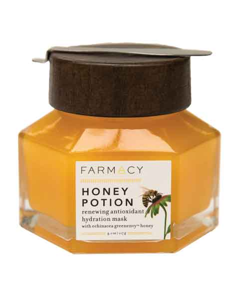 Ethical beauty product Honey Potion, renewing antioxidant hydration mask, Farmacy