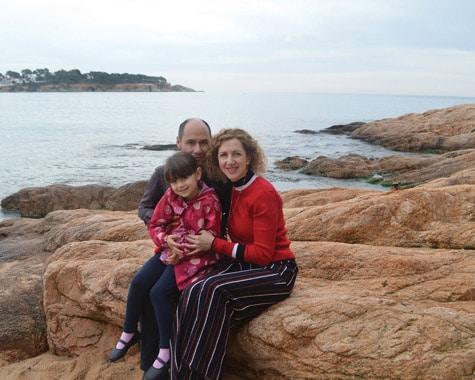 Eddi Fiegel and her family in Sant Feliu de Guixols Costa Brava