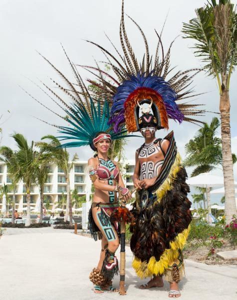 Yucatan family holiday, Entertainers at Grand Palladium Costa Mujeres Resort & Spa