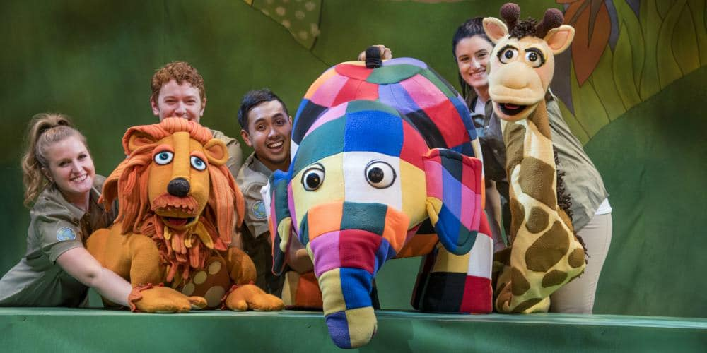 Easter holiday activities for the family, Elmer elephant theatre, Udderbelly